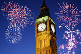 12 AM PM New Year Celebration