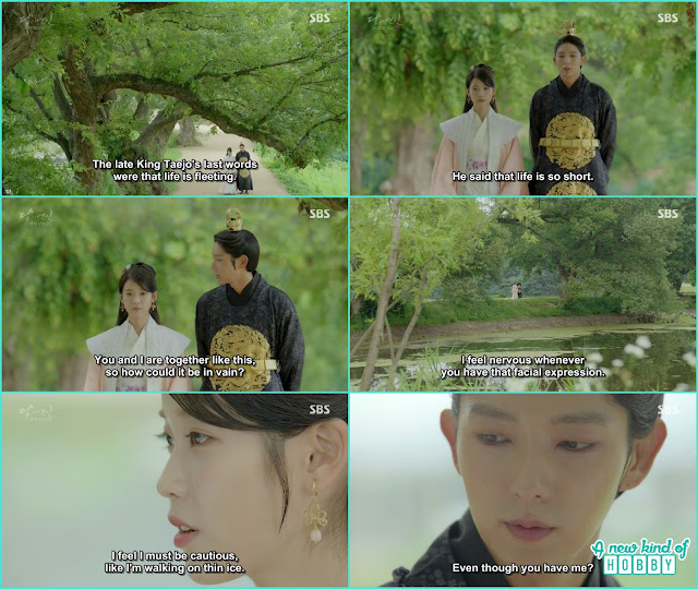 king wang so and Hae Soo while walking on the road wang so told hae soo late king taejo told life is too short  - Moon Lovers Scarlet Heart Ryeo - Episode 20 Finale (Eng Sub)