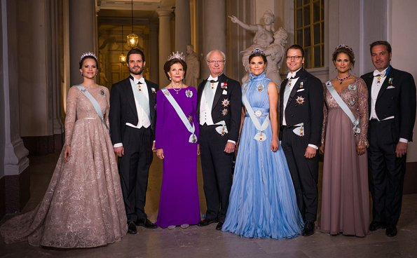 Princess Victoria wore Jennifer Blom dress, Princess Madeleine wore Seraphine dress, Princess Sofia wore Ida Lanto dress
