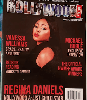 Regina Daniels dazzles on the cover of Hollywood magazine (pictures)