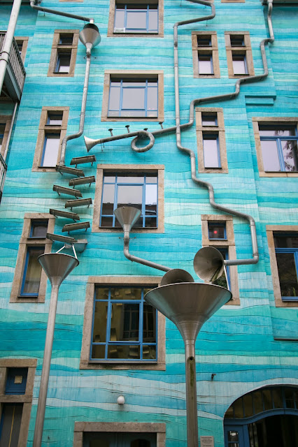 Casa che suona con la pioggia-Kunsthofpassage-Dresda