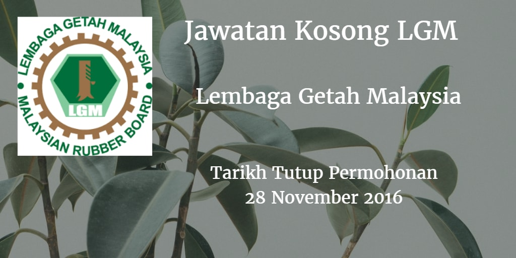 Jawatan Kosong LGM 28 November 2016