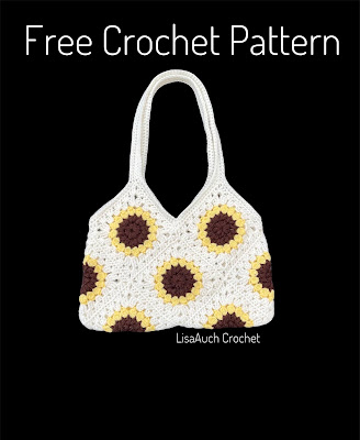 Free crochet bag pattern sunflower square