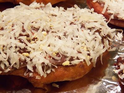 Almond Joy Fried Dough Closeup View