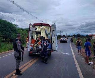 Idoso fica ferido após acidente na BR-104, em Cuité