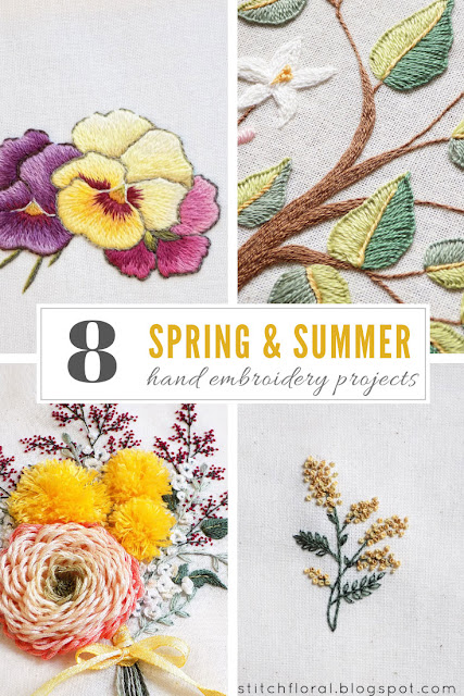 8 spring & summer hand embroidery projects