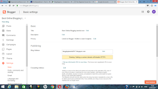 set up blogger domain