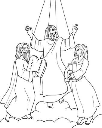 PEQUES Y PECAS...: COLOREA LA TRANSFIGURACIÓN DE JESÚS: