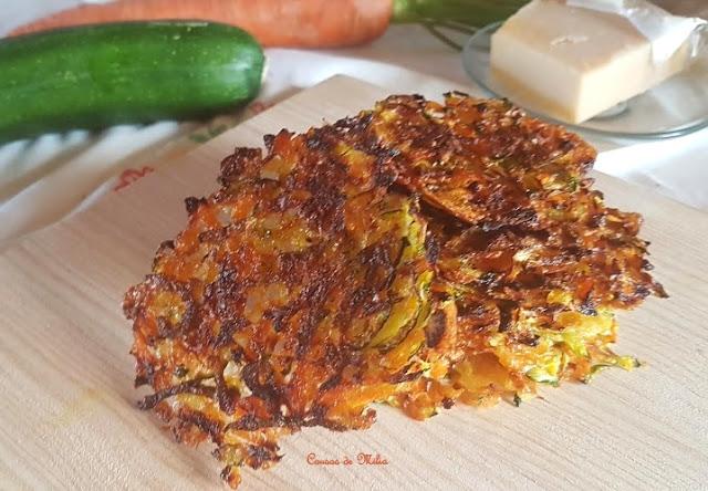 Chips de zanahoria, calabacín y parmesano #lunessincarne