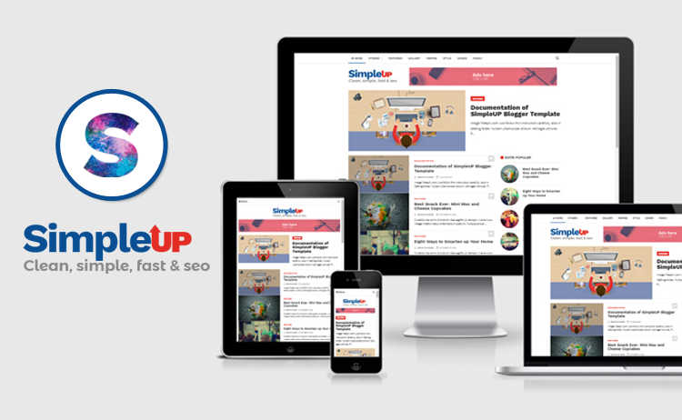SimpleUP – Template Blogger Sederhana, Clean, Responsive, SEO dan Mobile Friendly