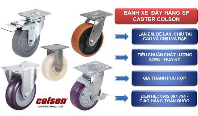Mua bánh xe đẩy hàng SP caster Colson ở Hà Nội www.banhxepu.net