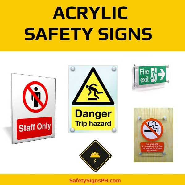 Acrylic Safety Signs Philippines