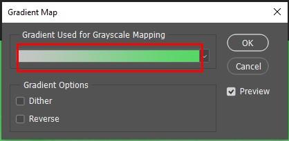 Pop-up Gradient Map - Cara Membuat Foto Hitam Putih di Photoshop