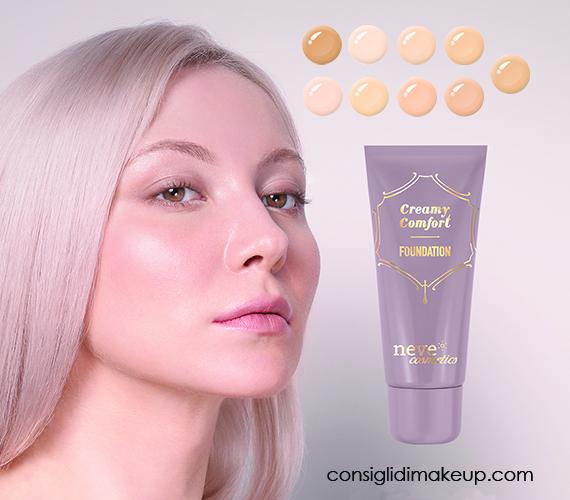 Creamy Comfort foundation il nuovo fondotinta vegan di Neve Cosmetics