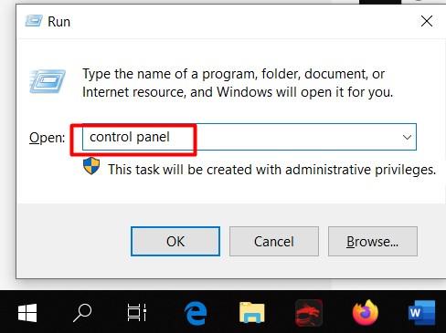 cara membuka control panel yang tidak di temukan di windows