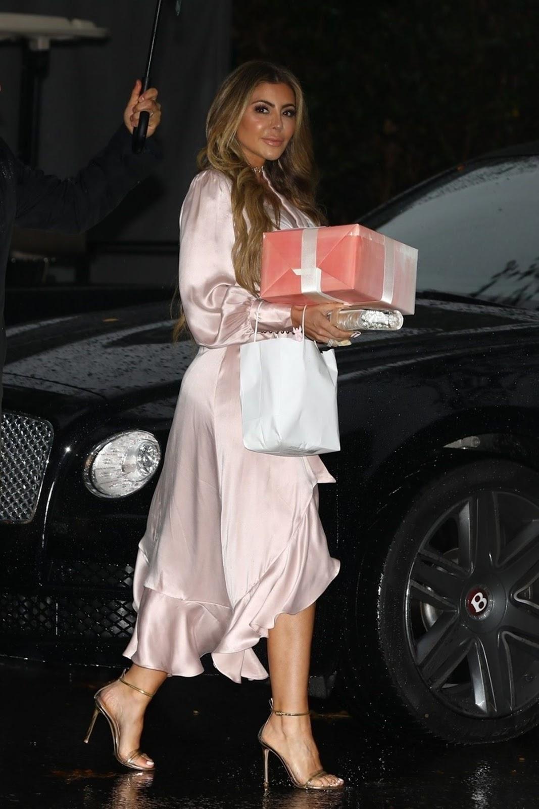 larsa pippen arrives at khloe kardashian's baby shower in bel air