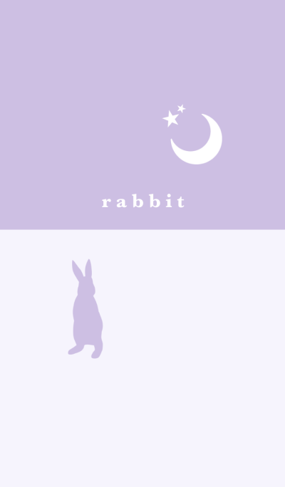 rabbit -purple-