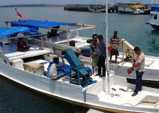 Polres kep. Selayar, Amankan 2 Kapal Diduga Penampung Hasil Bom Ikan