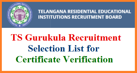 Telangana Gurukula Recruitment Post Graduate Teachers PGT Trained Graduate Teachers TGT 2:1 Selection List Released Download from www.treirb.org. Required Documents to Attend certificate verification know here. TRE IRB Telangana Residential Educational Institutions Recruitment Board PGT TGT 1:2 Selection List Download  ts-gurukula-pgt-tgt-selection-list-certificate-verification-dates-venues-required-documents-download