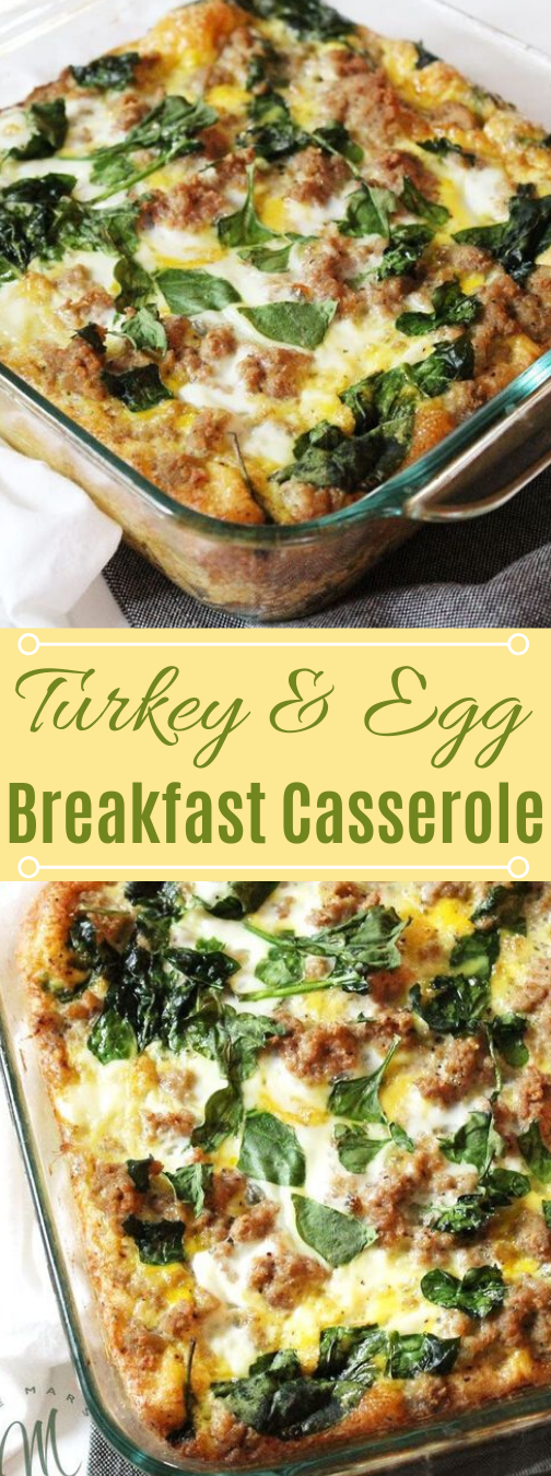 Turkey & Egg Breakfast Casserole #vegetarian #breakfast #vegan #easy #food