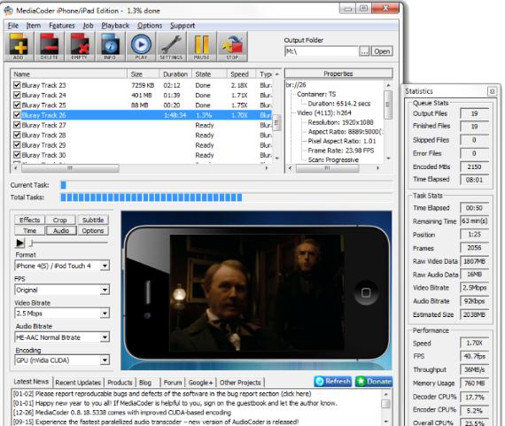 تحميل برنامج تحويل الفيديو والاغانى للموبايل مجانا MediaCoder 3GP