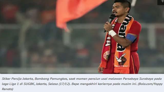 11 Bulan Tanpa Sepak Bola, Legenda Persija Bambang Pamungkas Ingin Nikmati Pensiun