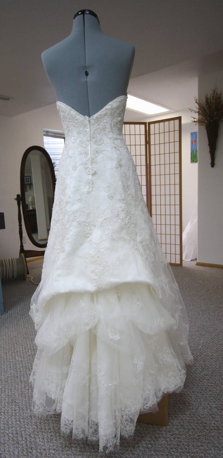 His, Hers And Ours DIY: WEDDING GOWN BUSTLE