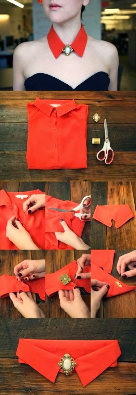 DIY cómo reciclar un cuello de camisa