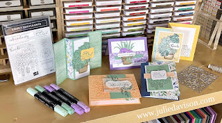 June 2021 Stamp of the Month Online Card Class ~ Simply Succulents Simply Succulents Bundle + Hand Penned Designer Paper ~ Register Now at http://tinyurl.com/June2021SOTM ~ www.juliedavison.com #stampinup #sotm
