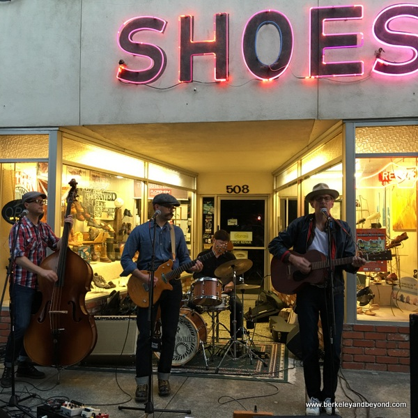The Bottom Dwellers perform at First Friday Art Walk in Woodland, California