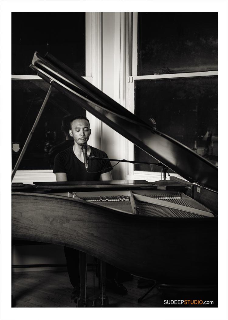 Piano Musician Portraits Music Album Cover Photography Poster Artwork Design SudeepStudio.com Detroit Ann Arbor Music Commercial Photographer