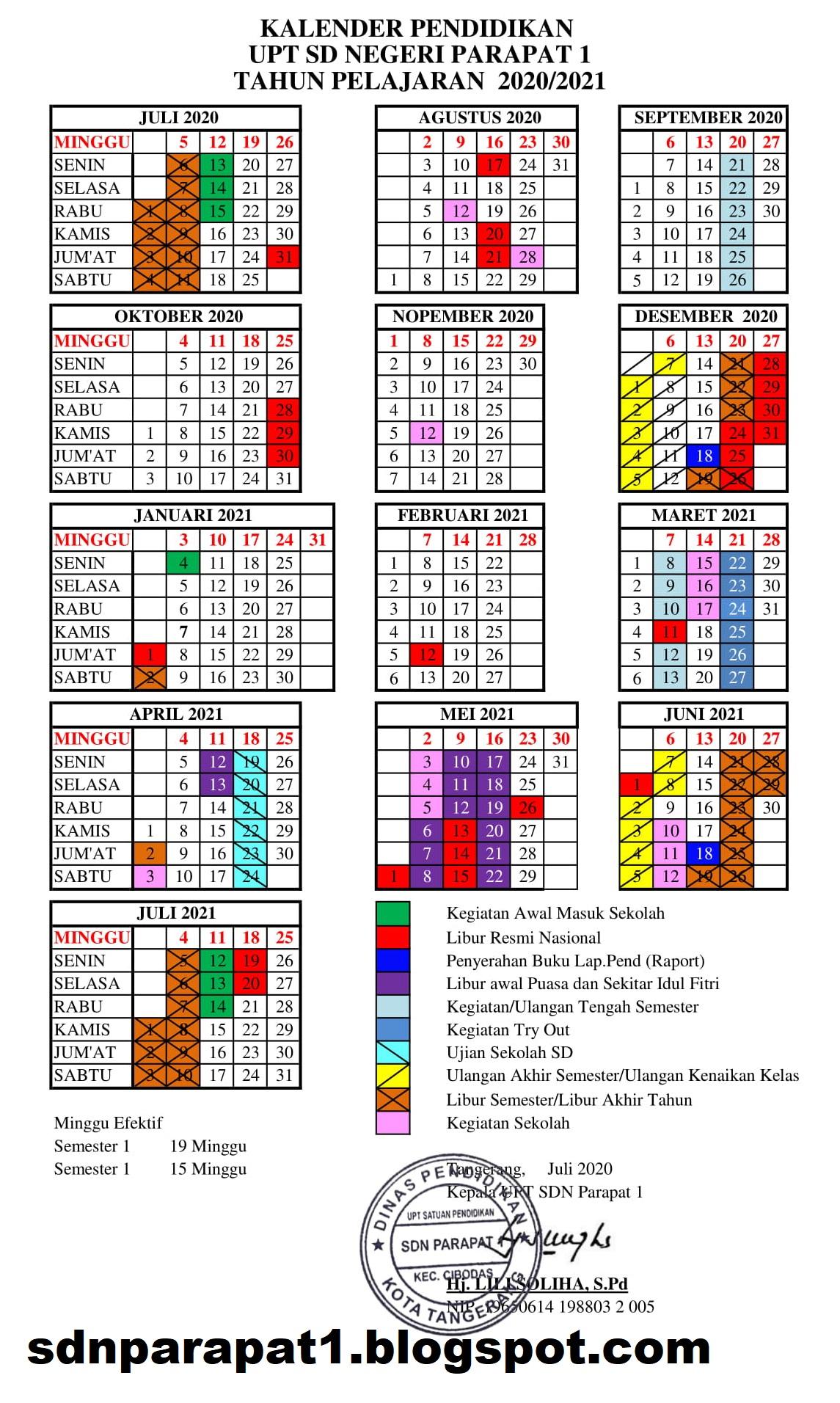 SDN PARAPAT 1: Kalender Pendidikan Tahun Pelajaran 2020 ...