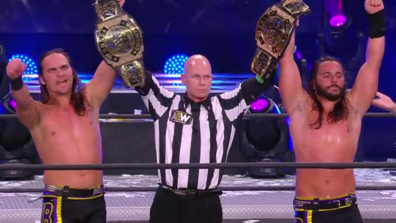 The Young Bucks win the AEW Tag Team Championship in AEW Full Gear