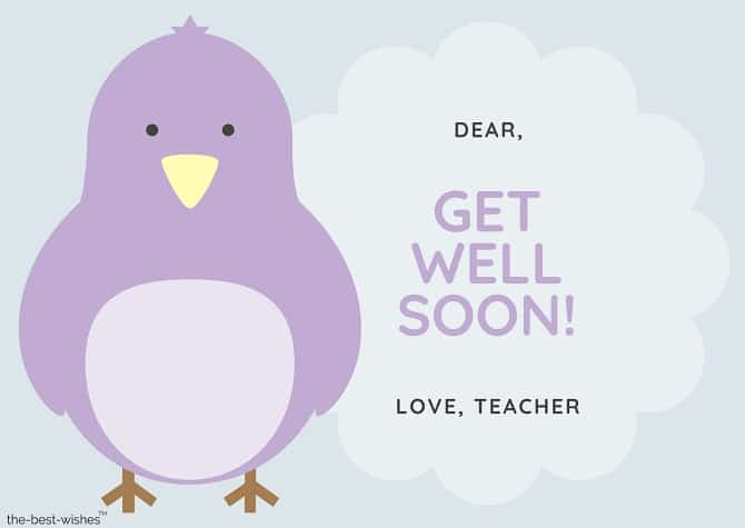 get well soon messages from teacher to student