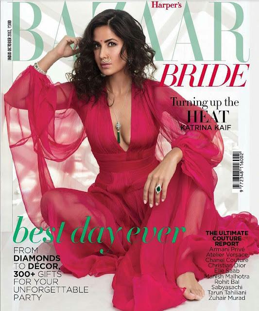 Katrina Kaif on October 2017 Harper's Bazaar Bride