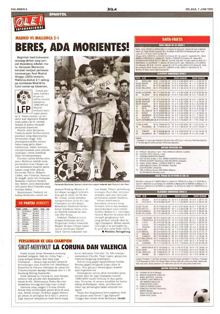 SPAIN LA LIGA 1999 MADRID VS MALLORCA 2-1