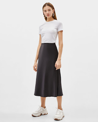Tips beli Rok Midi Skirt online