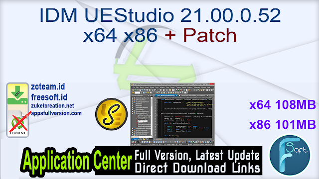 IDM UEStudio 21.00.0.52 x64 + Patch _ ZcTeam.id