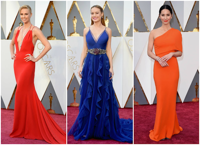 Charlize Theron, Brie Larson, Olivia Munn, oscars, academy awards, red carpet