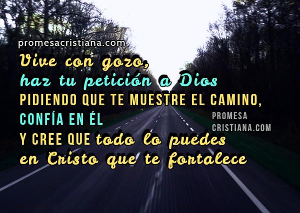 Promesa cristiana Dios me muestra el camino, frases, mensajes cristianos con imágenes, salmo 143, reflexión cristiana corta por Mery Bracho