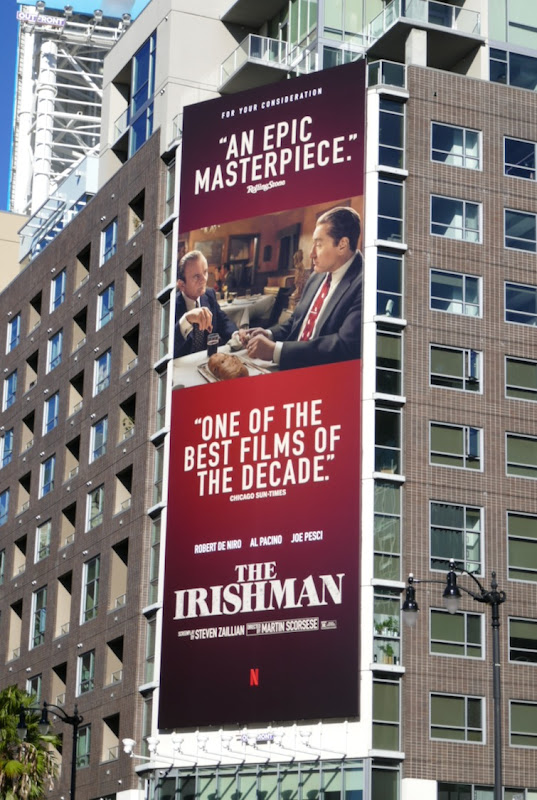 Irishman One of best films decade billboard