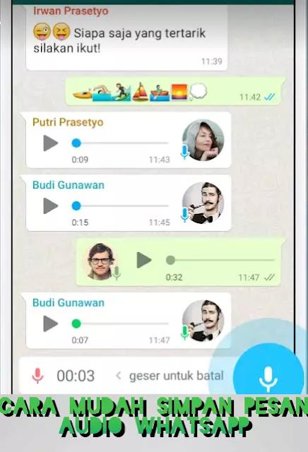 Cover Cara Menyimpan Pesan Suara WhatsApp