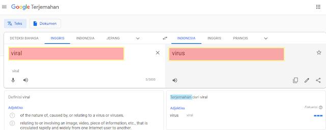 Viral sama dengan Virus