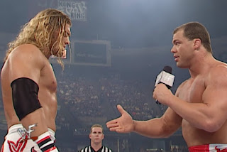 WWE / WWF - King of the Ring 2001 - Kurt Angle tries to get out of facing Edge in the final