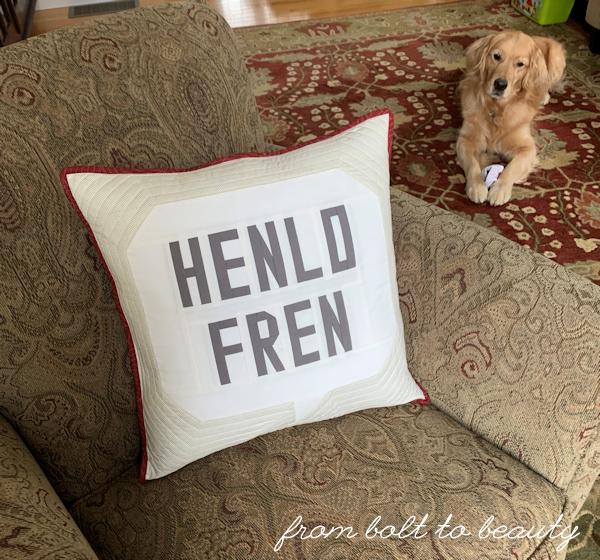 My Henlo Fren pillow hack