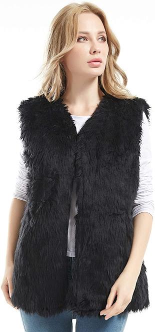 Best Black Faux Fur Vests for Women