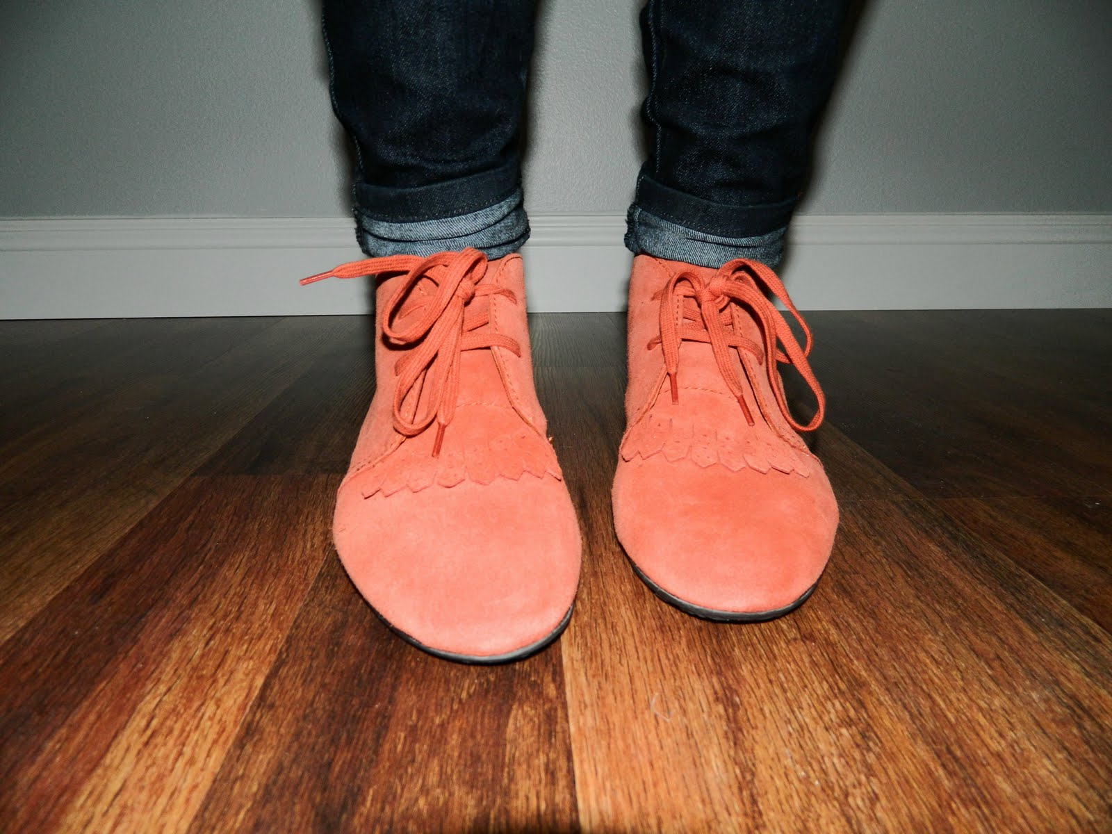 coral shoes, flats