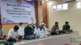 Jelang Pilkada, Polres Pangkep dan KPU Gelar Doa dan Dzikir Bersama