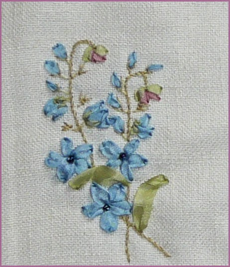 Silk ribbon embroidery june