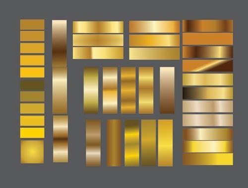 Golden Gradient Megapack Color for Coreldraw use (RGB-CMYK) Cdr file Download
